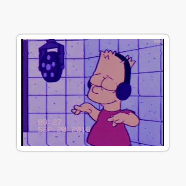 Bart really do be vibin Sticker
