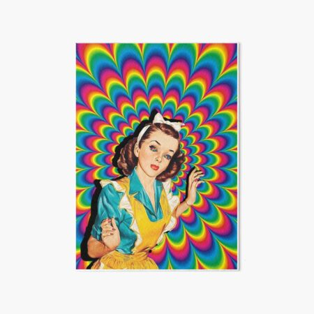 Psychedelic Pin Up Girl Art Board Print