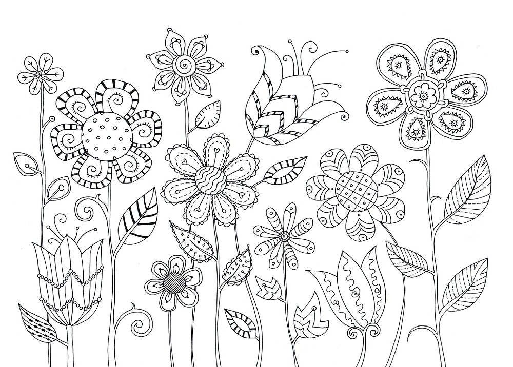 Geometrical Flowers by Nastia Larkina
