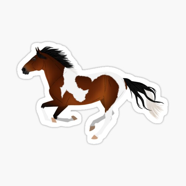 Bay Tobiano Paint Horse - Equine Rampaige Sticker