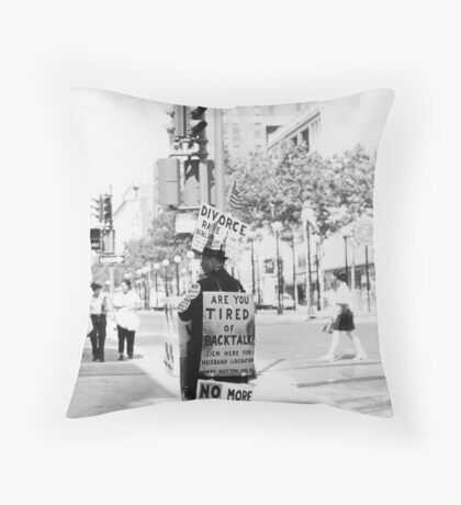 Tired of Backtalk? Throw Pillow