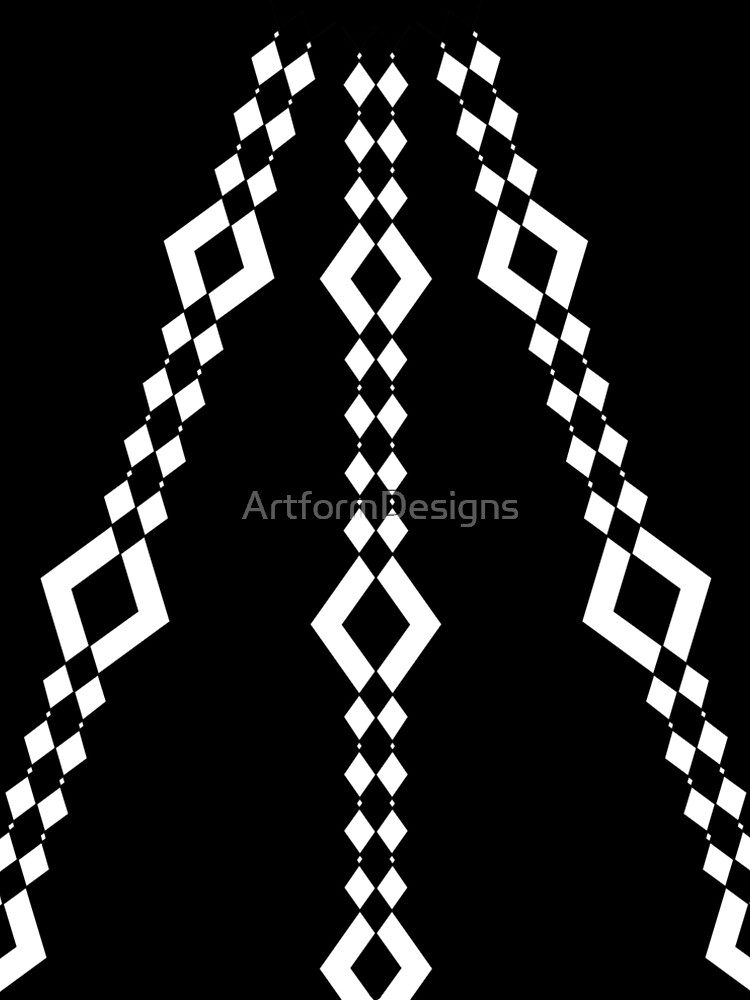 Retro 1960's Black and White Pattern by ArtformDesigns