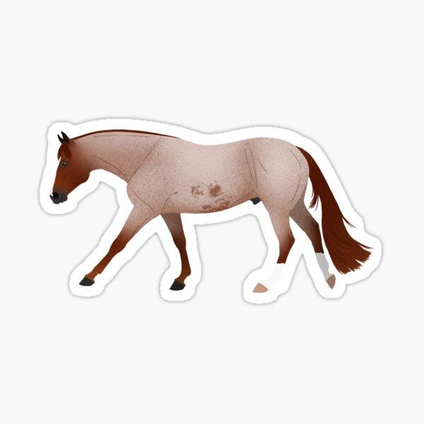 Red Roan Quarter Horse - Equine Rampaige Sticker