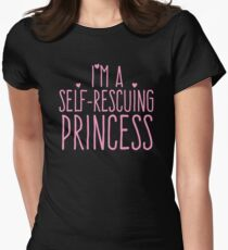 I'm a self-rescuing princess Womens Fitted T-Shirt