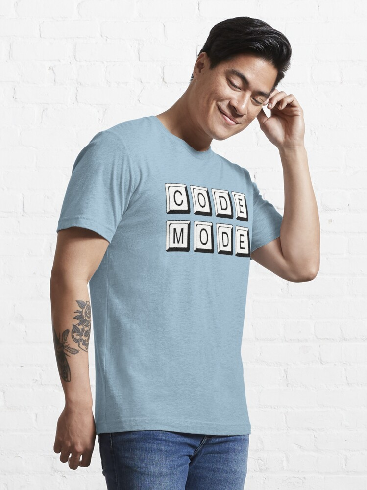 Alternate view of Code Mode for Cool Coders Essential T-Shirt