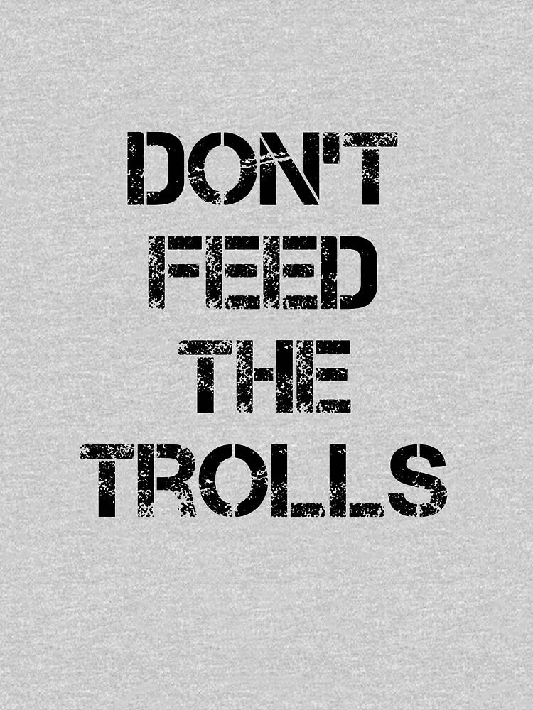 Don't Feed the Trolls Computer Fan Design by Rightbrainwoman