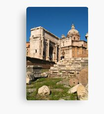 ARCH OF SEPTIMIUS SEVERUS, Forum, Rome. Canvas Print