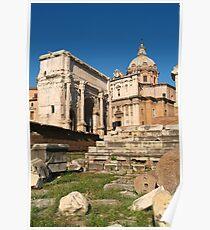 ARCH OF SEPTIMIUS SEVERUS, Forum, Rome. Poster