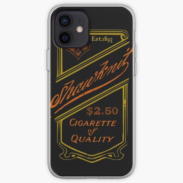 Étiquette de cigarette vintage Coque souple iPhone