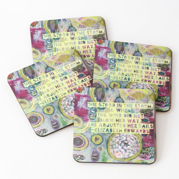 She stood in the storm Coasters (Set of 4)