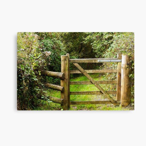 Wooden Gate Canvas Print