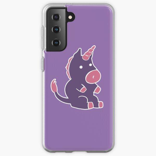 Purple Unicorn Plushie Samsung Galaxy Soft Case