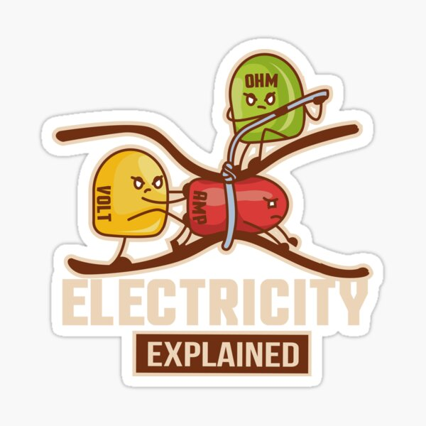 Electricity explains-funny shirt for the electrician Sticker
