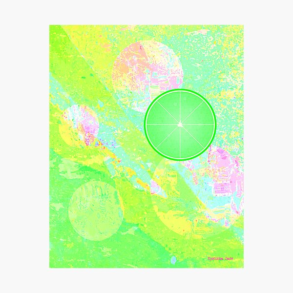 Lime Puff Photographic Print