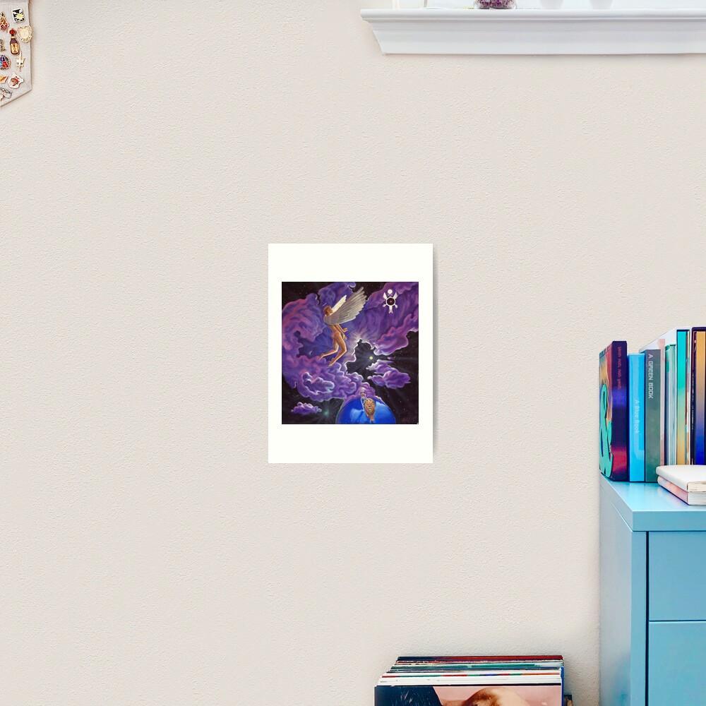Angel heart space lion robot Art Print