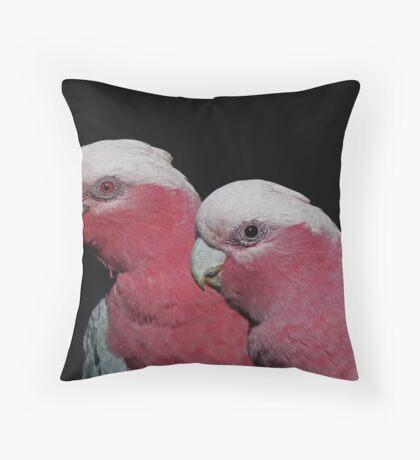 Mr and Mrs Galah Throw Pillow