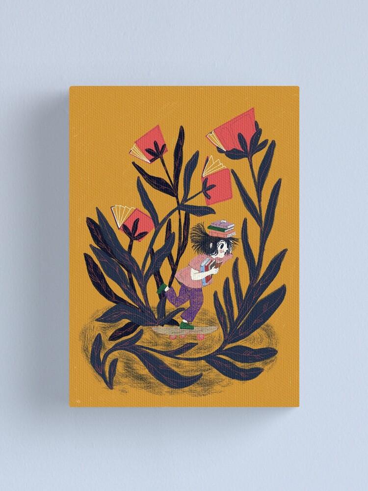 Alternate view of Little girl skateboarding Canvas Print