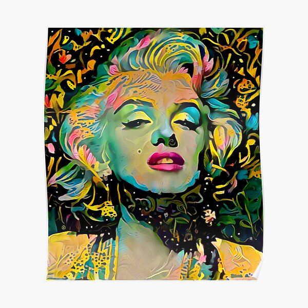Fleurs de Marilyn Monroe Poster