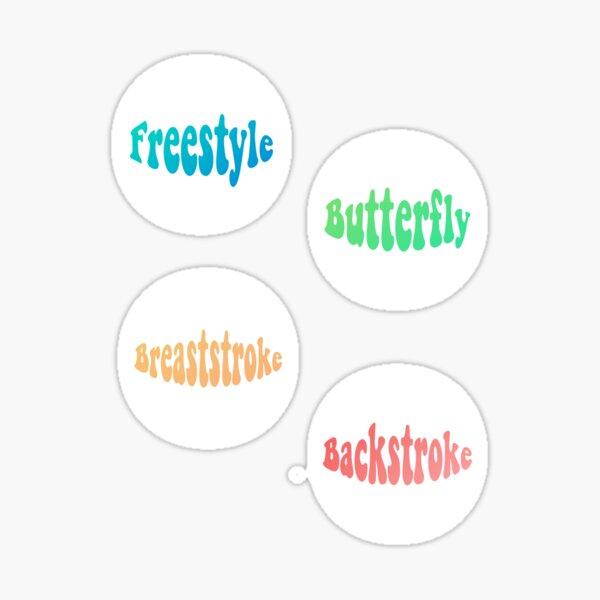 Backstroke Stickers Redbubble