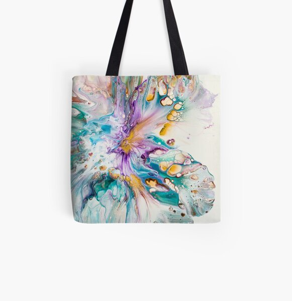 Purple Passion Flower All Over Print Tote Bag