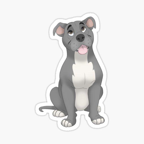 Blue pit bull dog illustration Sticker