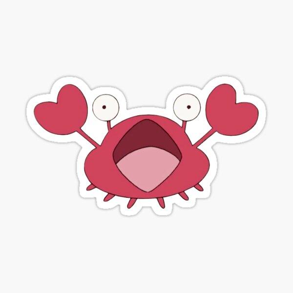cleavage crab Sticker