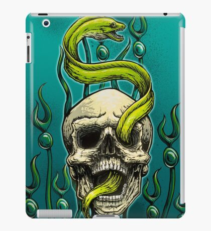 Old School Tattoo Skull and Moray iPad Case/Skin