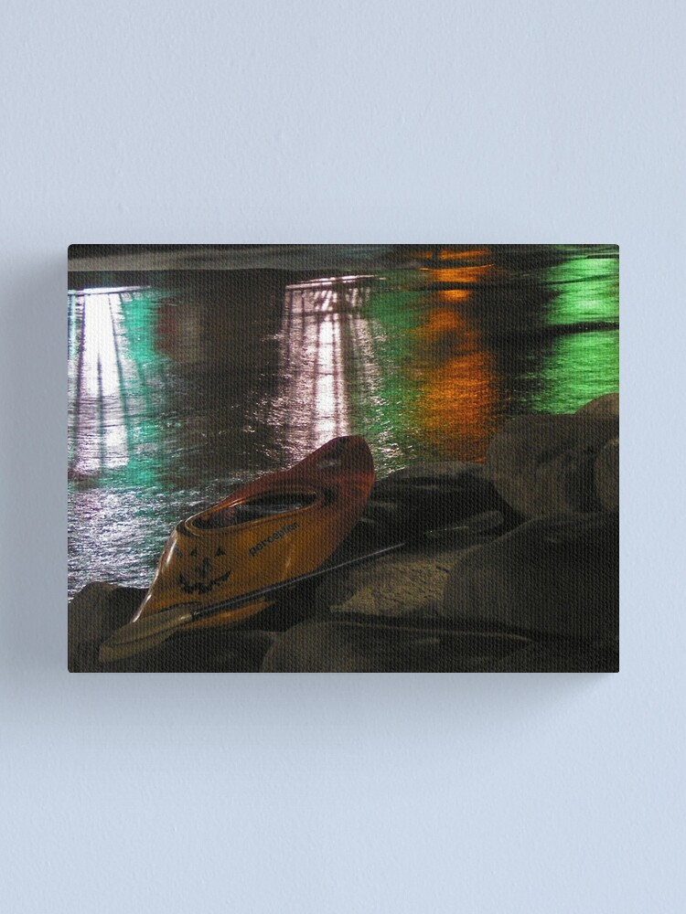 Alternate view of Kayak-o-lantern Canvas Print