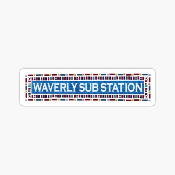 Waverly Sub Station Logo Sticker