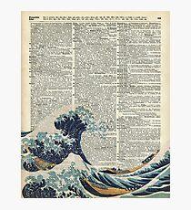 Wörterbuch-Kunst - die große Welle vor Kanagawa, Meer, Wellen Fotodruck