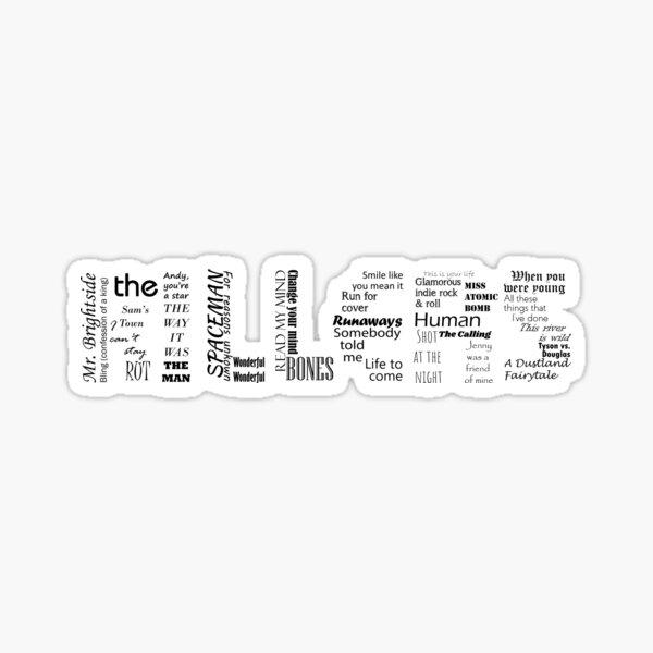 Killers Typographic Sticker