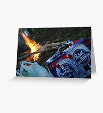 PBR Fire Greeting Card