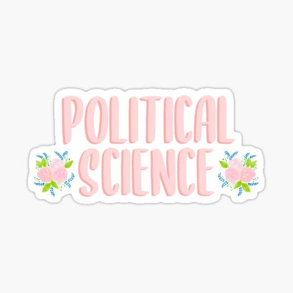 Political Science Floral Sticker