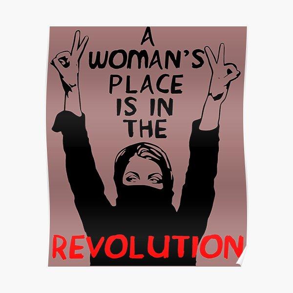 El lugar de una mujer está en la revolución: feminista, resistencia, protesta, socialista Póster