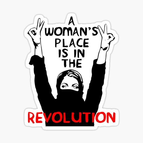 El lugar de una mujer está en la revolución: feminista, resistencia, protesta, socialista Pegatina