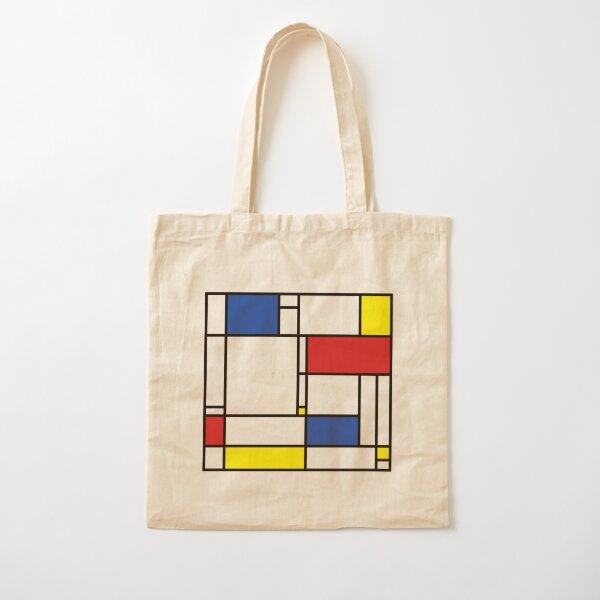 Mondrian Minimalist De Stijl Modern Art © fatfatin Cotton Tote Bag