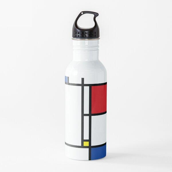 Mondrian Minimalist De Stijl Modern Art © fatfatin Water Bottle