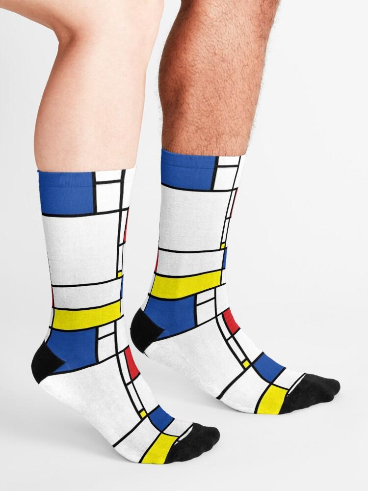 Alternate view of Mondrian Minimalist De Stijl Modern Art © fatfatin Socks