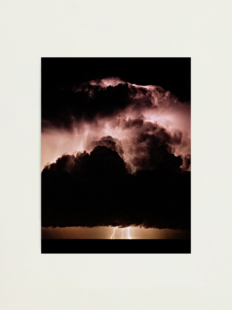 Alternate view of Night storm at sea Photographic Print