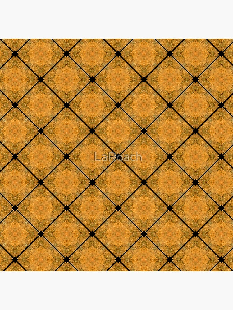Golden Grid Abstract Pattern by LaRoach
