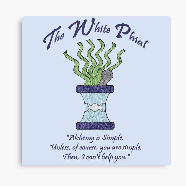 White Phial Alchemy Shop Canvas Print