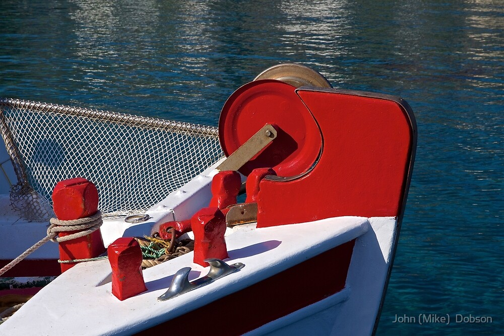 Greek Fishing Boat by John (Mike)  Dobson
