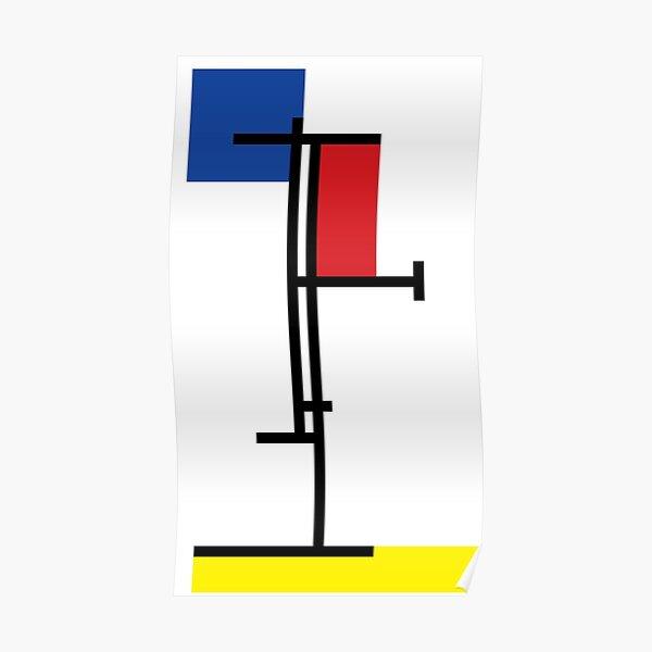Mondrian Minimalist De Stijl Modern Art III © fatfatin Poster