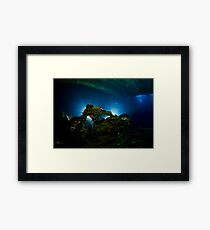 Underwater Motorbike Framed Print