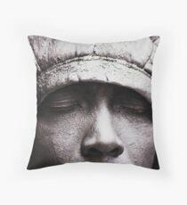 Silver Man Throw Pillow