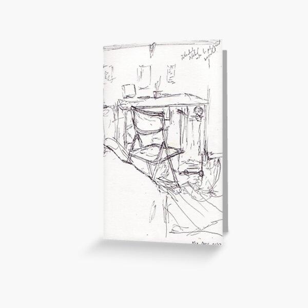 Desk, Paris Greeting Card