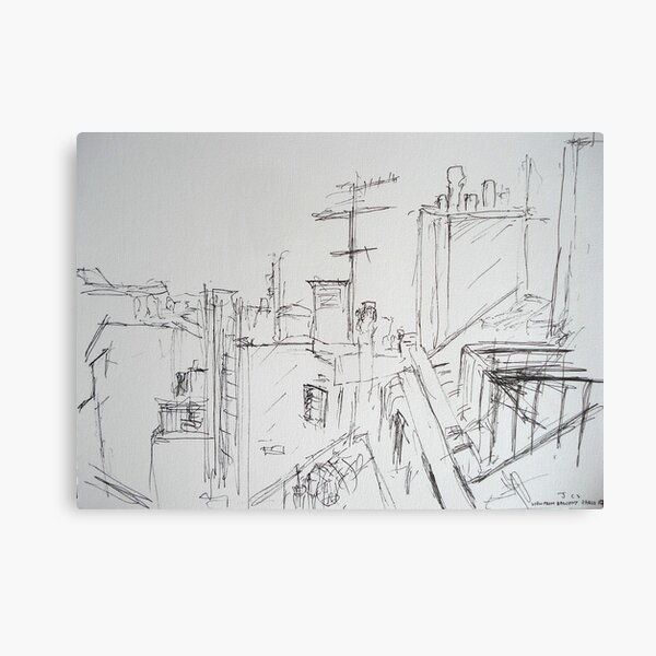 View from balcony, Paris Canvas Print