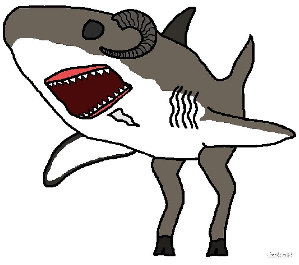 Goat-shark by EzekielR