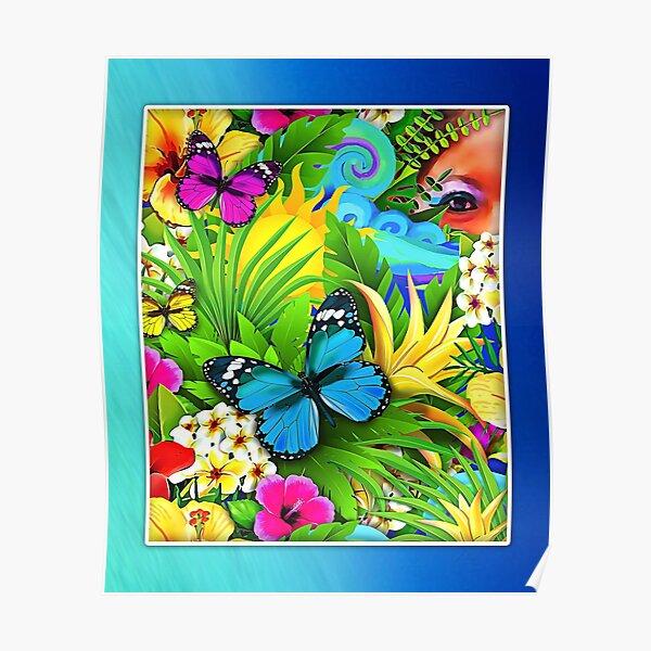 MeOMya Tropical Poster