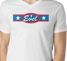 Evel Knievel - Horizontal Strip V.2 Mens V-Neck T-Shirt